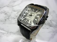 新品 腕時計 ブラック クロコダイル型押/カルティエ好きに