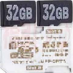 2枚のマイクロSDHC32GBをメモリースティック64Gへフォーマット済み普通郵便おK