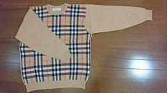【美品!!】バーバリーチェックのセーター