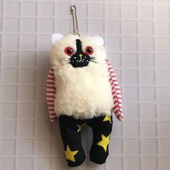 白猫chanチャームストラップ★handmade