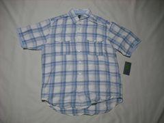 27 男 TIMBERLAND ティンバーランド 半袖チェックシャツ Mサイズ