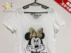 ジョイリッチ ワンピースS レディース美品  白×黒×マルチ Disney/スパンコール