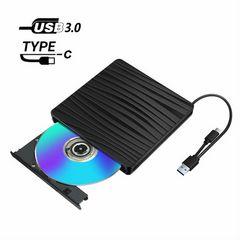 DVDドライブ 外付け USB 3.0 Type-c 外付けDVDドライブ