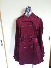 ボルドー トレンチコート 保存袋付き スプリングコート L