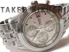 【1点もの】タケオキクチ【クロノグラフ】メンズ腕時計