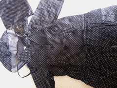 新品 レインコート size120   blackドット柄 通学に 合羽
