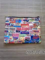 HARIBO・ハリボーグミパッケージ柄フラットポーチ