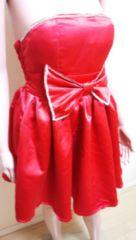 ☆キャバ系☆真っ赤なビジュLineデカリボンのドレス☆3点で即落