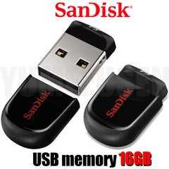 即決新品 邪魔にならないお洒落な超小型USBメモリー 16GB サンディスク製