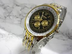 新品★腕時計 コンビ・黒/ブライトリング好きに