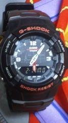 即決送込カシオGショックG-100腕時計アナログ+デジタル反転液晶