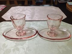 ピンクのかわいいグラス