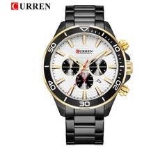 新作◆正規CURREN腕時計◆ゴールドMIX BIGフェイス◆海外限定