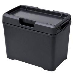 車用 ゴミ箱 ダストボックス L ティシュ おもり付き ブラック
