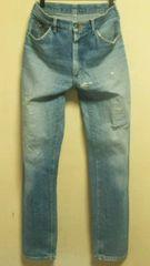 USA製オールド¶Lee[リー]★リペアダメージジーンズ・デニムパンツ W80cm