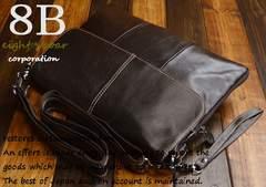 ◆牛本革 オイルドレザー シンプルショルダーバッグ ◆k16
