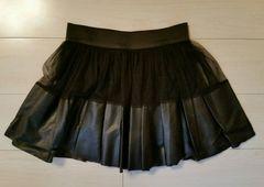 ●dazzlin●レザー×レース スカート/sizeS