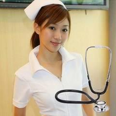 コスプレ 看護婦 ナース 衣装 + 聴診器 セット 白 1/BBW
