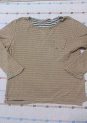 グローバルワーク♪ベージュ長袖シャツ♪130�pくらい