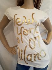 ANAP USA ゴールド ニューヨーク ロゴ Tシャツ