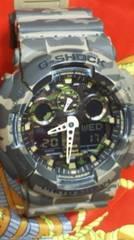カシオG-SHOCK腕時計ビックケースGA-110迷彩カモ柄ミリタリー使用感少美品