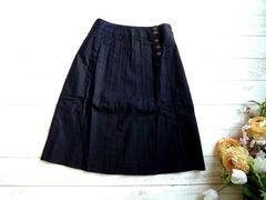 新品 tip tip 膝丈 スカート 黒 ブラック M 64