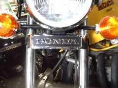 (22H)旧CB400Fメッキ三つ又エンブレム