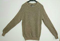 無印良品 畦編みセーター ブラウン 美品  Lサイズ