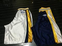 ladysバスケパンツセット☆紺&白 バスケットボール ゲームパンツ