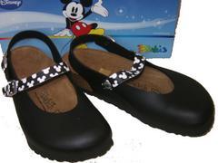 ビルケンシュトック ビルキ ディズニーミッキーマウス黒リカ37