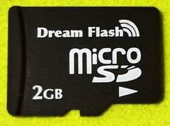 中古♪Dream Flash マイクロ2GB ドリームフラッシュ プラケース+SDアダおまけ付