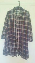 チェックシャツワンピース大きいサイズ