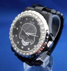 スカルの腕時計BK-メンズウォッチ