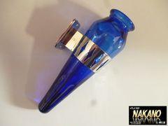 レア物 観光バス 花瓶 ブルー ペンたて 一輪挿し デコバン 魚屋