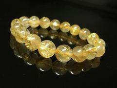 財運招来パワーストーン タイチンルチルブレスレット 10ミリ天然石数珠