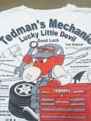 ★USED[テッドマン]メカニック・テッド半袖Tシャツ スカジャン好きにも