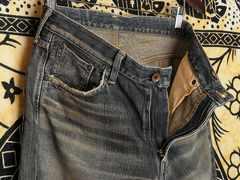 エドウィン505Z鬼ひげジーンズW33濃紺ダーティデニムパンツ極美