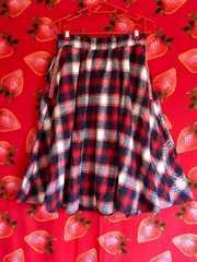 チチカカ チェックのネルスカート