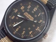 7086/ジャーナルスタンダード★未使用品ミリタリーモデルメンズ腕時計格安
