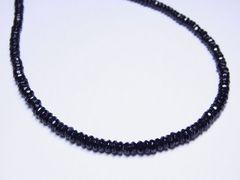 ダイヤの輝きを放つ!!ブラックスピネル6ミリ数珠ネックレス