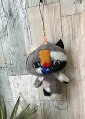 せつないフェイスの猫chanチャームストラップ★ハンドメイド