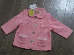 90サイズ女の子アウター(上着)可愛いピンクの花柄/新品