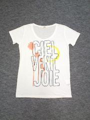 ☆オゾックOZOCカスレ月ヤシの木半袖白Tシャツ(38)新品