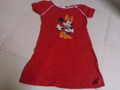 120 Disney ミニーマウス ワンピース 美品