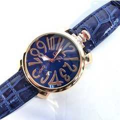 1番人気のブルー★Italianデザイン腕時計メンズ【CF】新品