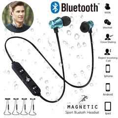 Bluetooth イヤホン ワイヤレスイヤホン マイク 両耳 ブルー