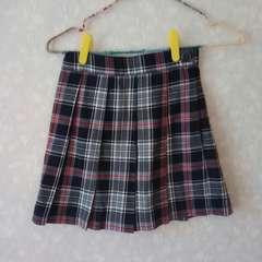 新品同様♪ムージョンジョン♪チェックのプリーツスカート♪スクールガール風美品130