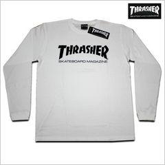 即決新品 THRASHER 長袖Tシャツ L◆白スラッシャー スケーター ロンT2016