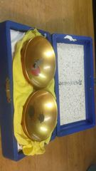 見事!。アンティークの鶴、亀の金蒔絵漆の盃。一対。共箱入り。