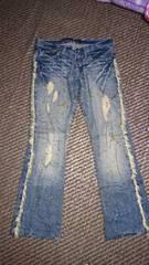 【Midas】金ラメペイントジーンズ